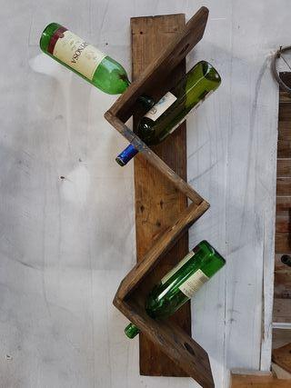 botellero de vino para pared