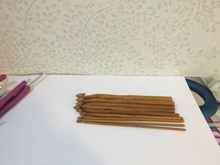 Juego de agujas de bambu