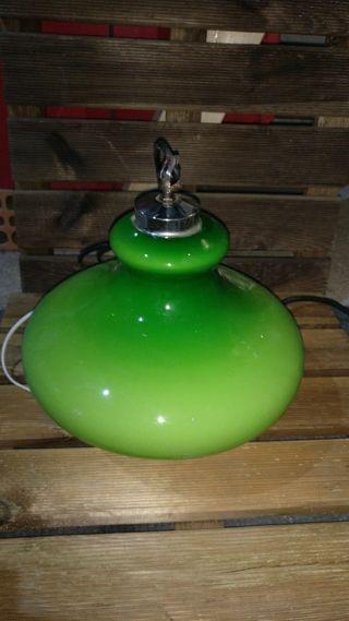 lampara vintage verde antigua estilo billar.