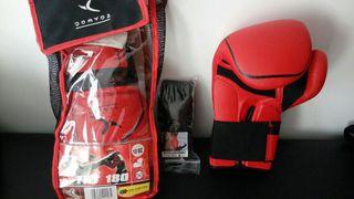 guantes boxeo + venda protectora k1 12OZ
