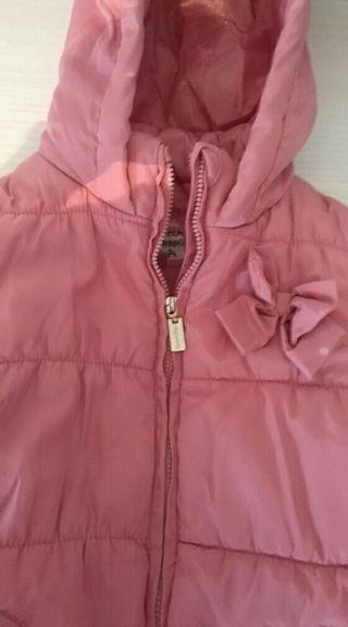 abrigo d niña d Mayoral rosa palo