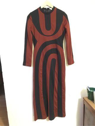 Vestido largo KLING setentas