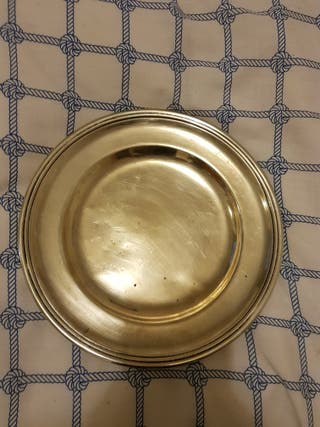 Plato decorativo plata