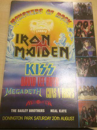 Iron maiden monster of rock donington1988 tourbook