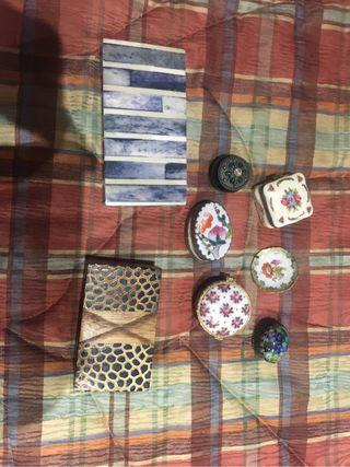Cajitas de coratuvas y joyeros