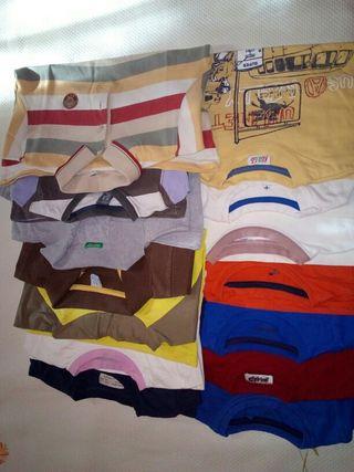 Camisetas de manda larga talla 4-5 años