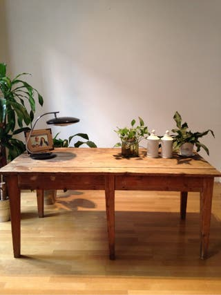 Mesa de comedor de carpintero de segunda mano por 395 en madrid wallapop - Wallapop mesa comedor ...