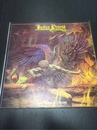 Judas priest lp sad wings of destiny firmado