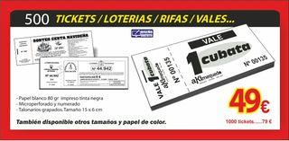 tickets, rifas talonaros de sorteos
