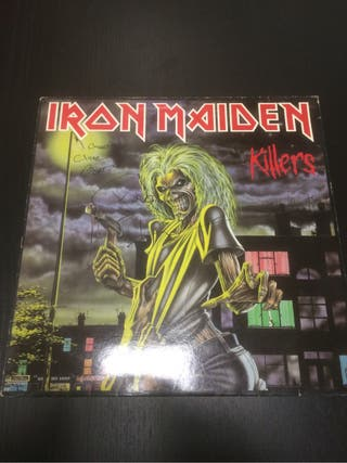 Iron maiden killers Lp firmado clive y Paul