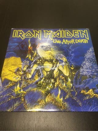 Iron maiden live after death firmado steve y Nicko