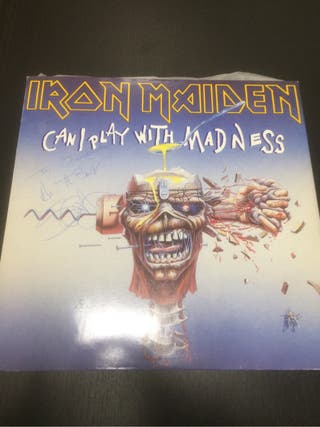 Iron maiden firmado steve can i play with madness