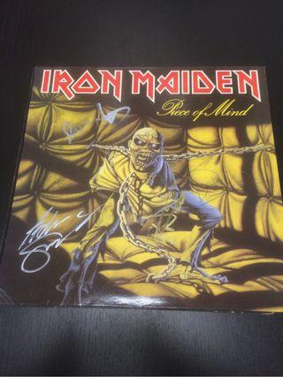 Iron maiden piece of mind Lp firmado original 1983