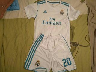 equipacion camiseta Real Madrid niño