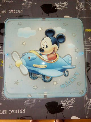 Lampara pared Mickey Mouse