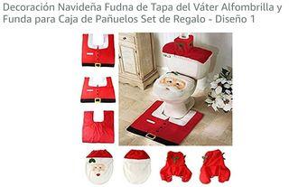 decoracion navideña wc .