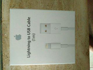 cable carga lightning iphone iPad nuevo a estrenar