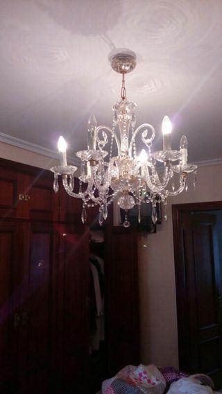 Luminaria decorativa antigua de brazos