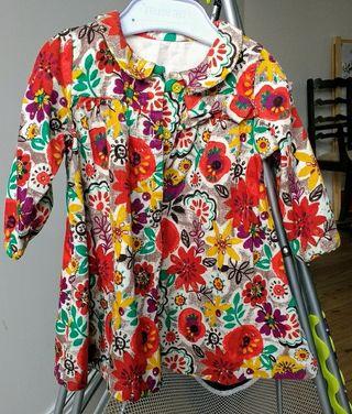 M&S Baby girl long sleeved dress.