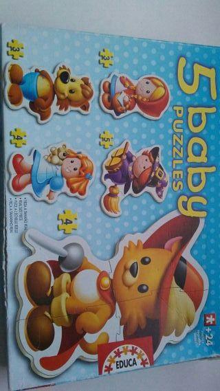 5 puzzles babys +24meses