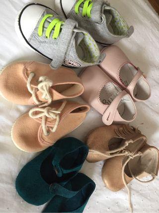 Pack zapatos bebe niña