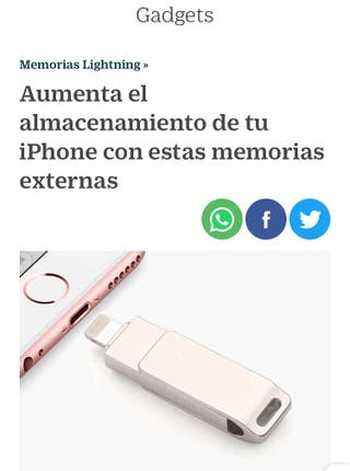 Memoria USB Flash 32 Gb - iPhone/iPad (Lightning)