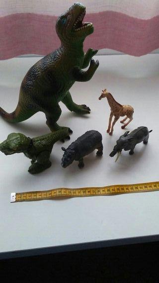 5 animales de juguete