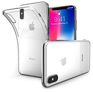 Funda transparente + cristal templado Iphone X