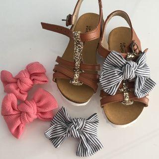 Sandalia lazos talla 26