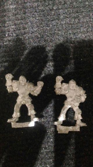 Bloodbowl Humanos Lineas metal x2