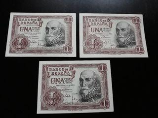 Billetes antiguos una peseta 1 peseta 1953