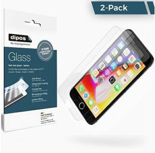 (Pack de 2) Cristal protector de pantalla iPhone 8