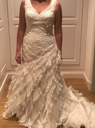 vestido de novia talla 42 de segunda mano en colmenar viejo en wallapop