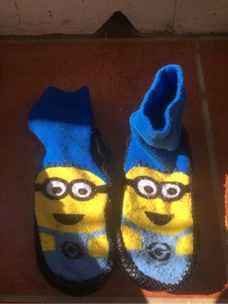Calcetines zapatillas Minion 28/29