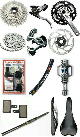 repuestos nuevos, mecanica de todo tipo de bicis