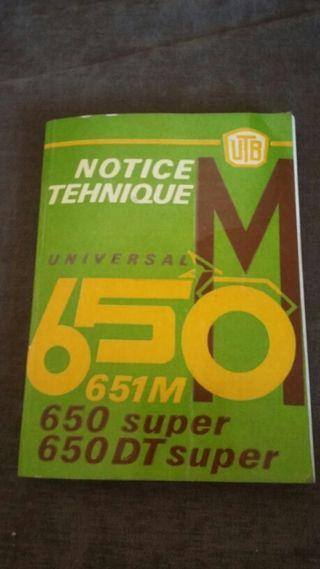 Manual tractor universal 650