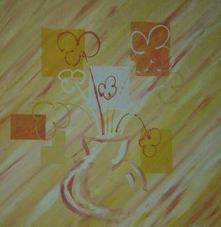 Cuadro Pintura florero abstracto
