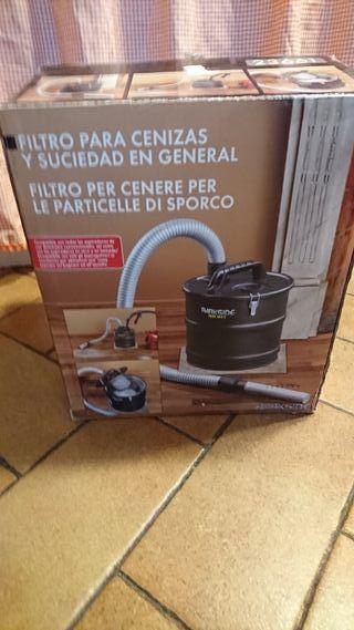 filtro aspirador cenizas chimenea barbacoa pellets