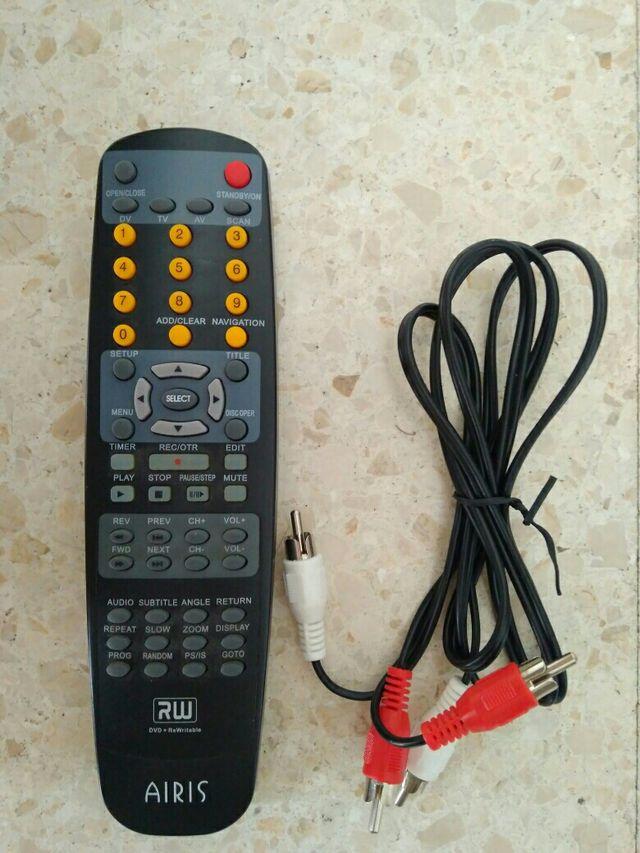 mando dvd mas cables