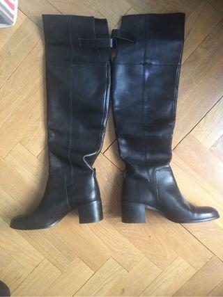 Botas altas de piel T39