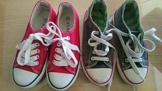 Dos pares zapatillas niño tipo converse numero 30