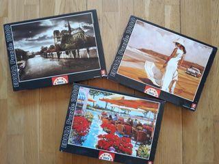 Pack 3 puzzles Educa 1000 piezas