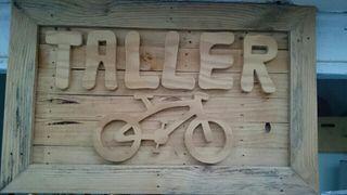 cartel de madera