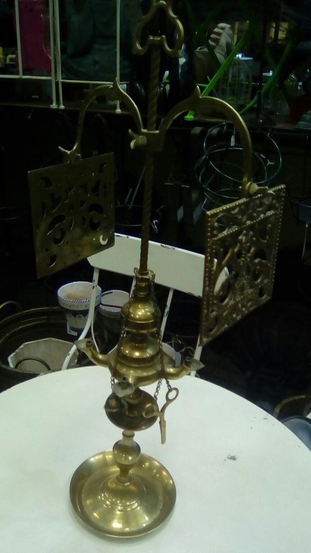 candil de bronce