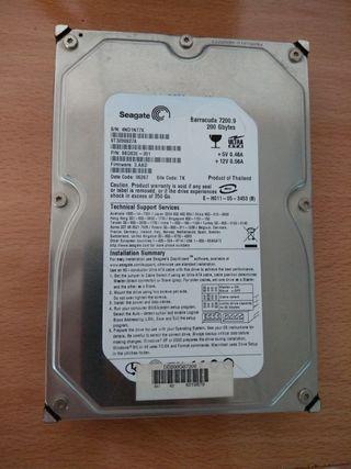 disco duro ide 3.5 200gb seagate 7200rpm