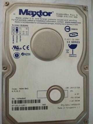 disco duro maxtor 120gb ide 3.5