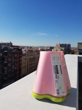 lámpara ikea rosa