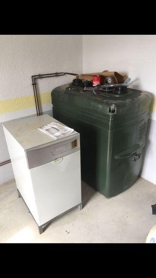 Caldera Gasolil+Depósito+12 radiadores