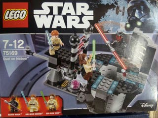 star wars lego duelo en naboo sin figuras