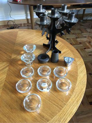Candelabros portavelas cristal